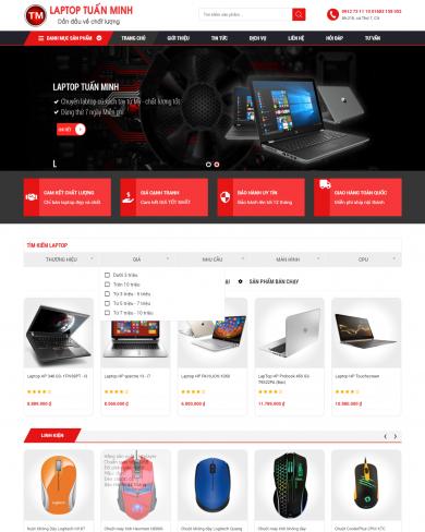 Mẫu thiết kế web Laptop