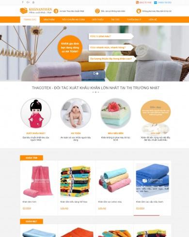 Mẫu thiết kế web bán khăn