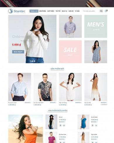 Mẫu thiết kế web thời trang