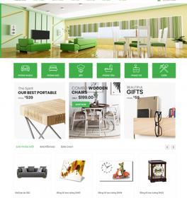 Mẫu thiết kế web nội thất phong cách hiện đại