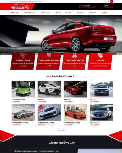 Website bán ô tô, sửa chữa ô tô đẹp